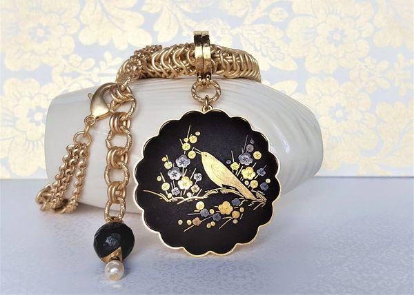 NIKO - Japanese Damascene, Statement Necklace