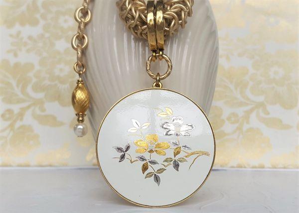 SAKI - Japanese Damascene Necklace