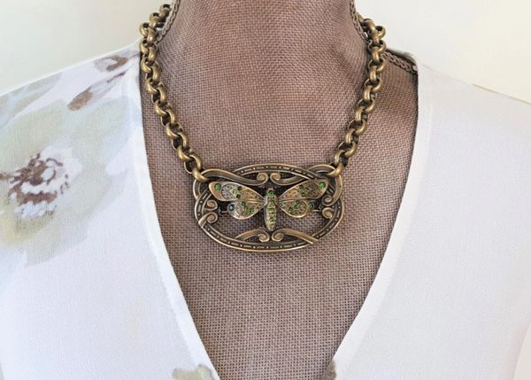 KINSEY - Art Nouveau Butterfly Necklace