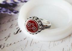 PETITE FLEUR - Antique Perfume Button Ring