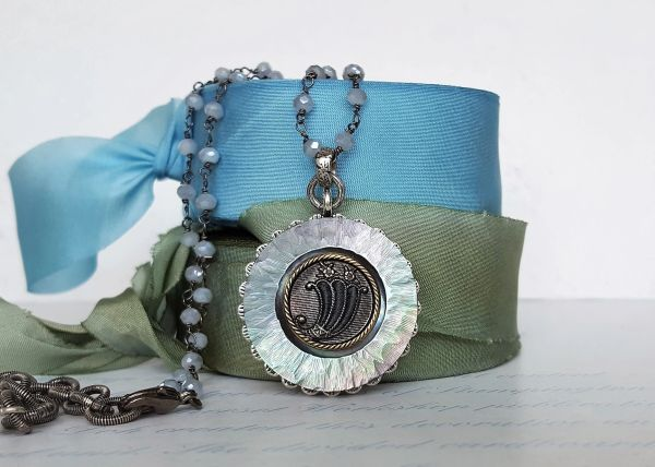 HOPE - Antique Button Necklace
