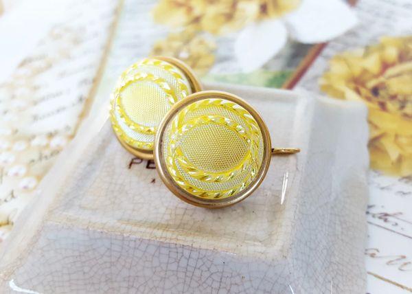 Lemon Yellow Czech Glass Earrings