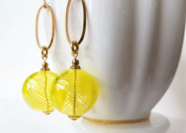 ZEST - Lemon Yellow Bubble Earrings