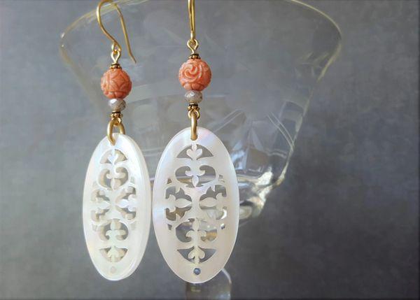 CARINA - Filigree Lucite Earrings