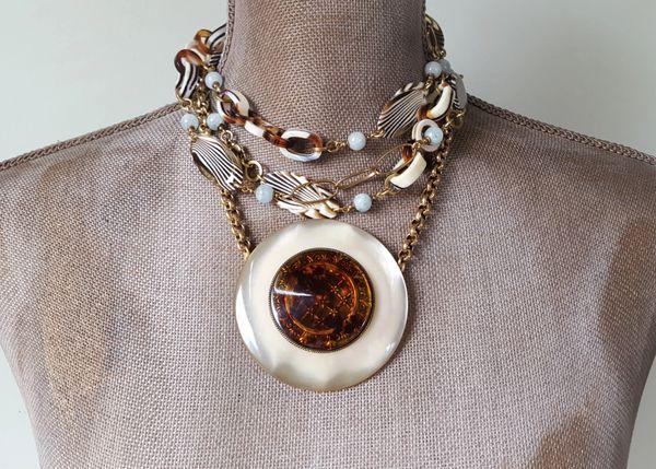 NATASCHA - 2 Piece Lucite Necklace SET