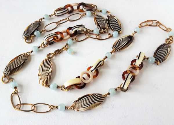 LEANORA - Tortoise Shell Layering Necklace