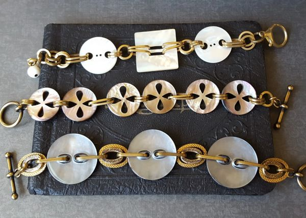 Antique Mother of Pearl Button Bracelets