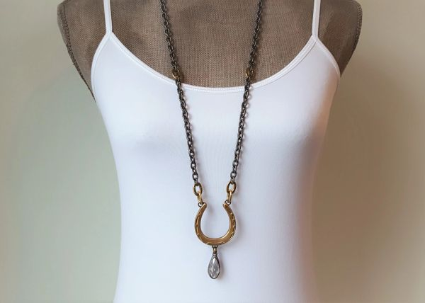 Horse Shoe Necklace, Long