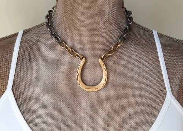 Horse Shoe, Choker Necklace