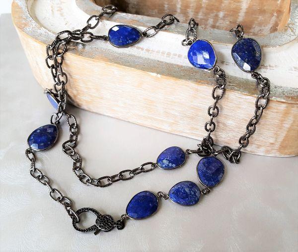 LARA - Lapis Layering Necklace