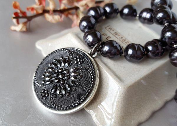 ZORA - Black Baroque Pearl Necklace