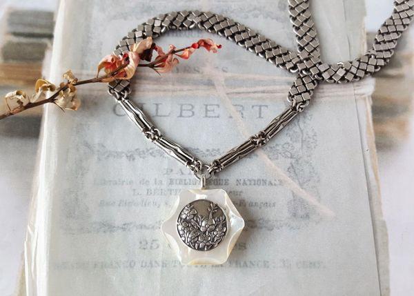 KENSIE - Antique Button Necklace