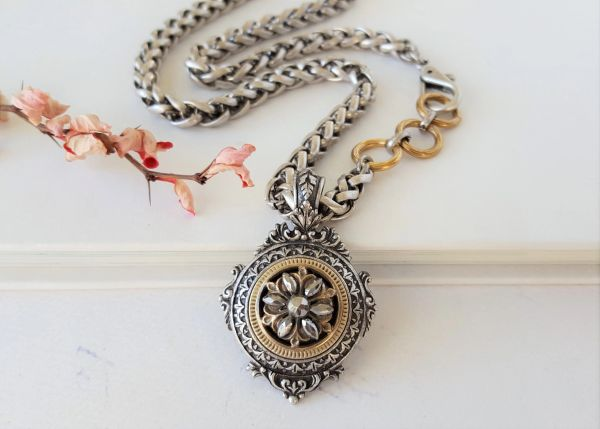 RENEE - Medallion Pendant Necklace, OOAK