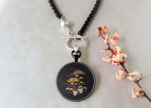 Japanese Damascene Pendant Necklace