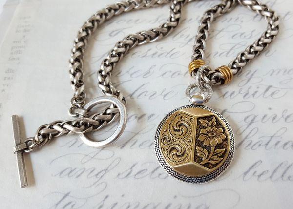 JESS - Antique Button Necklace