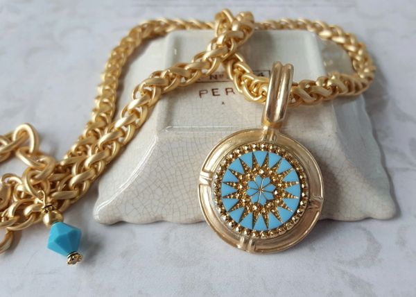 TRACEY - Turquoise Medallion Necklace