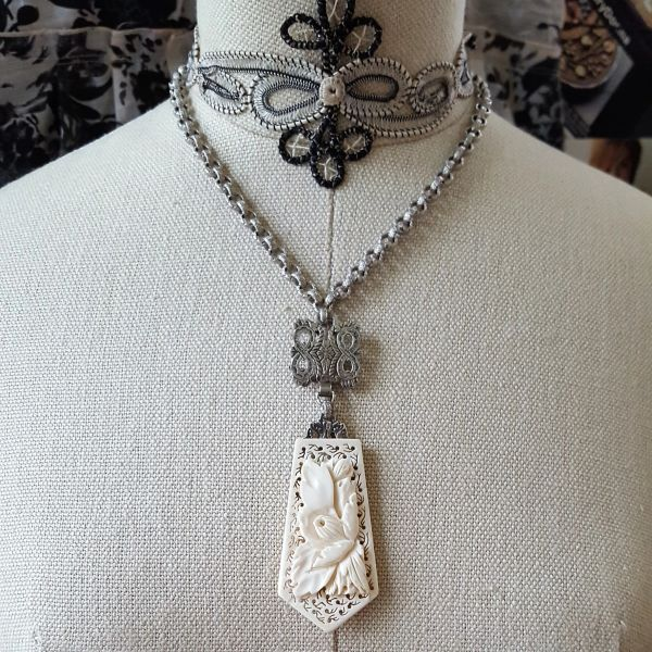 LENORA - Victorian Relic Assemblage Necklace