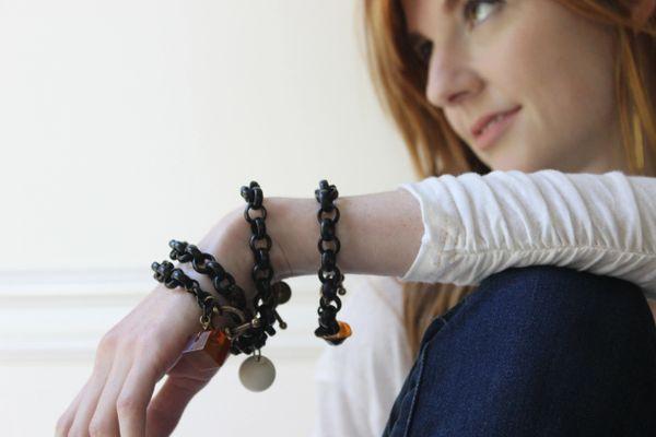 RENO - Black Chain Bracelet