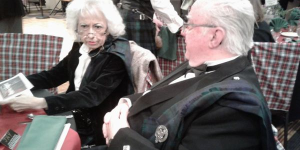 Jay and Louise at the SASSNM annual Burns Night
