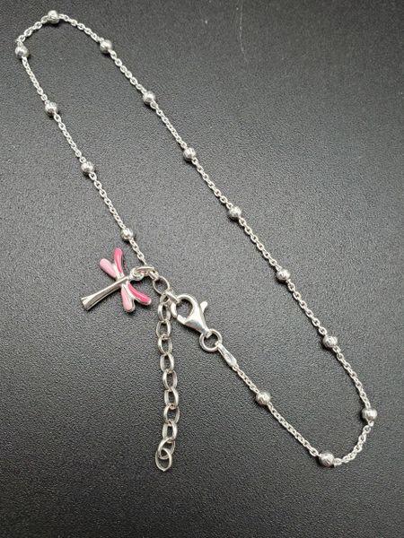 ANK002 - Pink Enamel Dragonfly