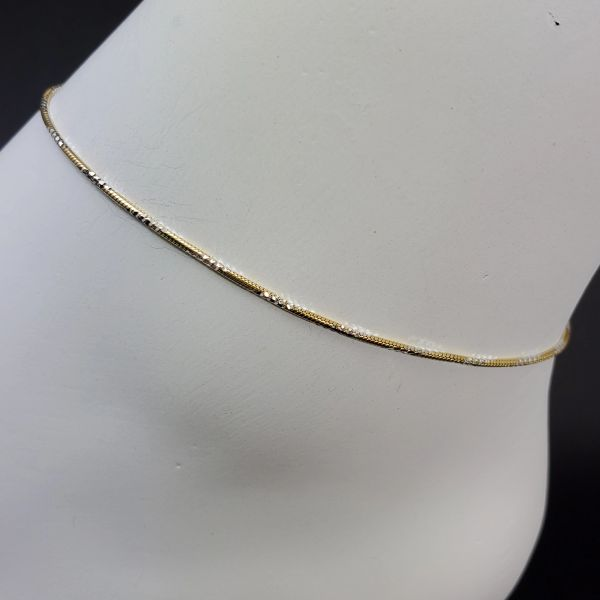 ANK180 - 2 Tone Diamond Cut Snake