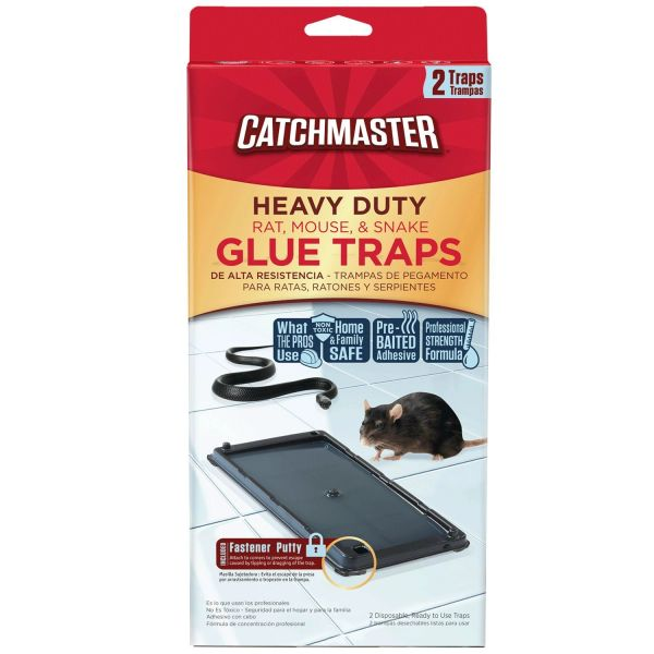 Catchmaster Baited Rat, Mouse and Snake Glue Traps Professional Strength (2-Pack)