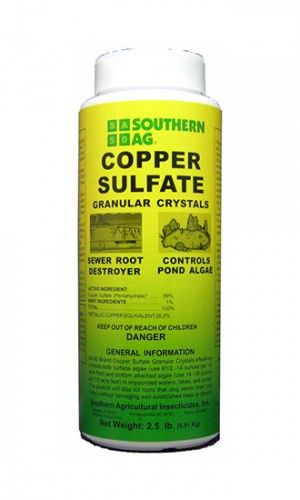 Southern Ag Copper Sulfate Granular Crystals - (1 lb and 2.5lbs.) Sewer Root Killer