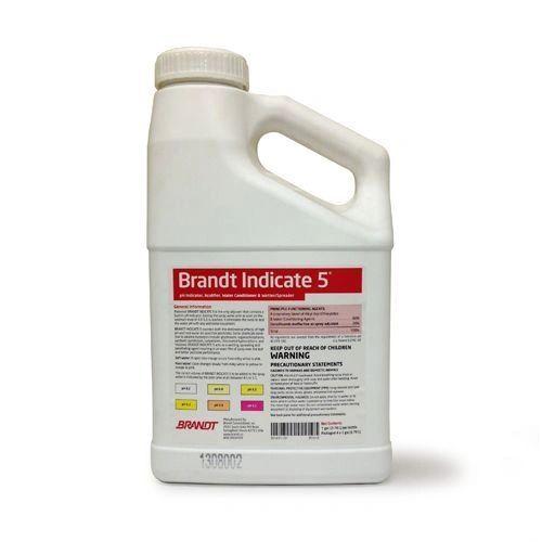Brandt Indicate 5 Adjuvant, pH Indicator, Acidifier, Water Conditioning Agent