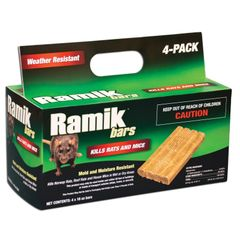 NEOGEN RODENTICIDE Ramik Mouse and Rat Bars for (Rodent Café)