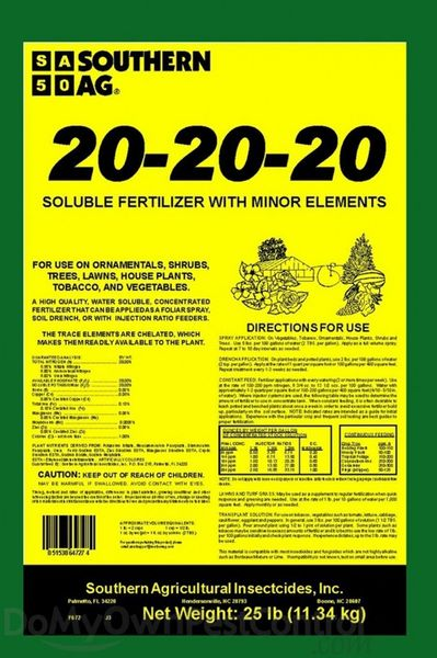 Southern Ag 20-20-20 Water Soluble Fertilizer + Min Elements!