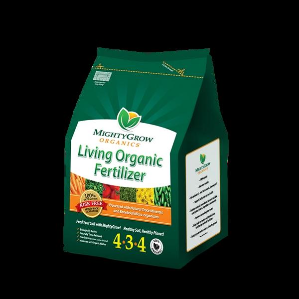MightyGrow Living Organic Fertilizer 4-3-4, OMRI Listed, (6 lbs.)
