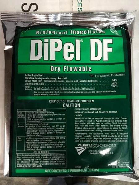 DiPel DF Biological Insecticide - OMRI Listed and NOP compliant (1 & 5 Pound)