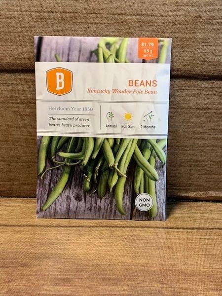 BEANS - Kentucky Wonder Pole Beans