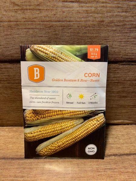 CORN - Golden Bantam 8 Row - Sweet