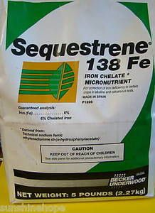 SEQUESTRENE 138Fe Iron Chelate 6% for Alkaline Soils 5 lbs