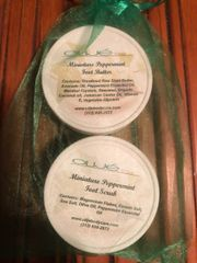 Miniature Peppermint Foot Butter and Foot Scrub