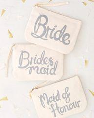 Bridesmaid Canvas Pouch
