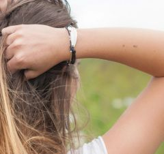 Feather and Leather Bracelet