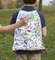 World Map Doodle Backpack