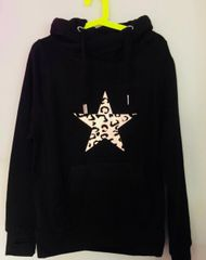 Rose Gold Leopard Star Hoodie