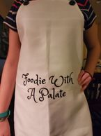 foodie with a palate apron, gifts for cooks, best gifts for foodies 2019, presents for a foodie