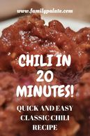 easy chili recipe, chili in 20 minutes, easy recipes, easy family dinners, easy dinner recipes