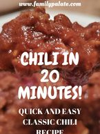 chili in 20 minutes, easy chili recipe, one pot chili, instant pot chili