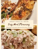 easy meal plan, easy meal planning, raoated chicken chicken salad