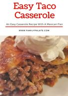 easy recipes, easy taco casserole, easy casserole recipes