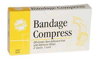 "BANDAGE COMPRESS, HART, 4"", 1/UNIT"