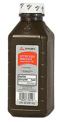 HYDROGEN PEROXIDE, 8 OZ BOTTLE