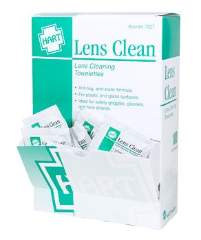 LENS CLEANING TOWELETTES, 100/BOX