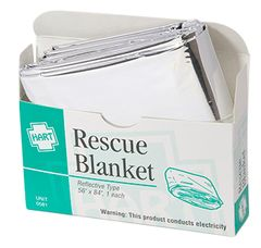 RESCUE BLANKET, HART, MYLAR, 1/UNIT