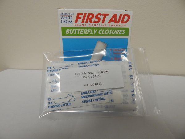 WOUND CLOSURE (BUTTERFLY) 10CT